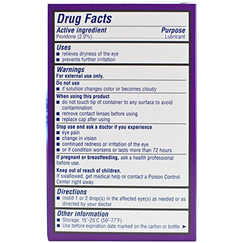 Bausch + Lomb Soothe Dry Eye Drops, Long Lasting Hydration Lubricant Eye Drop, 15 ml, 0.50 Fluid Ounce