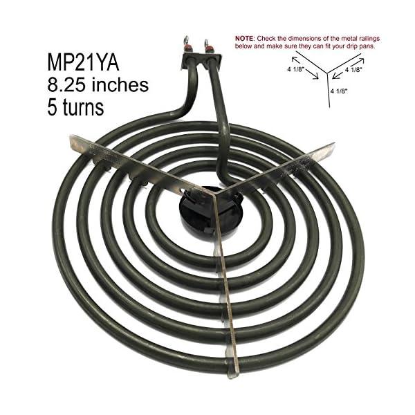 """Cooking Appliances MP22YA Electric Range Burner Element Unit Set 2- MP15YA 6.5"""" 2- MP21YA 8"""" 4"""