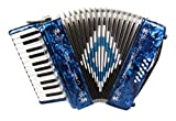 Rossetti 2512 Piano Accordion 12 Bass 25 Keys with Straps and Hard Case (BLUE)