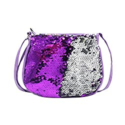 Girls Crossbody Purse Bling Glitter Flip Sequin Small Purse