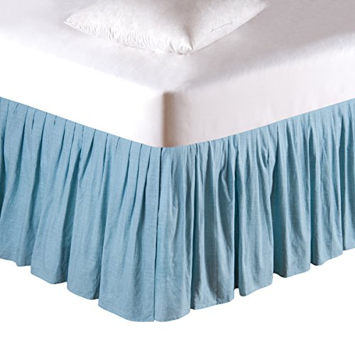 C&F Home Grid Bed Skirt, King, Aegean by C&F Home