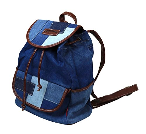 Unionbay Denim Backpack Handbag with Adjustable Faux Leather Straps by UNIONBAY (Image #6)