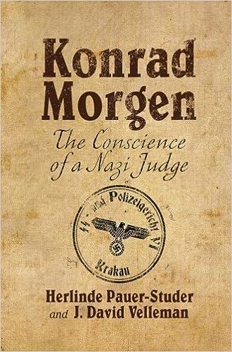 Book Konrad Morgen: The Conscience of a Nazi Judge