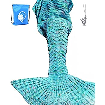 Amazoncom Laghcat Mermaid Tail Blanket Knit Crochet Mermaid