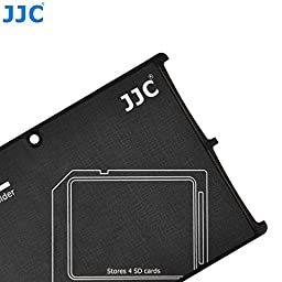 JW MCH-SD4GR Credit Card Size Durable Lightweight Portable Memory Card Case Holder Protector With Writable Label For 4 SD Cards + JW Cleaning Cloth