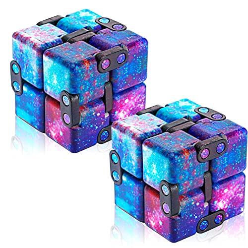 Eoqiza Infinity Cube Fidget Toys, Fidget Cube Sensory Toys Stress Relieve Toys Anti-anxiety Toy for Children and Adults (Starry Sky)