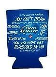 Bud Light Can Bottle Cooler Football Neoprene