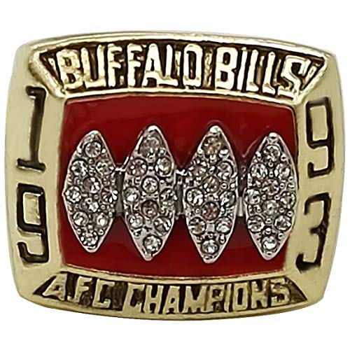 GF-sports store Replica Championship Ring for 1993 Buffalo Bills Gift Fashion Gorgeous Collectible Jewelry