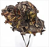 Military Boonie Hats for Men Waterproof 3D Leaves Camo Tactical Cap Bucket Hats for Hunting Fishing Sunshade Army War Games
