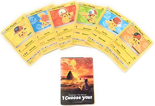 Pokemon Ash's Pikachu Pokemon: The Movie I Choose You Promo Pack Of 3 Random Pikachu Cards Pokemon Ash Pikachu