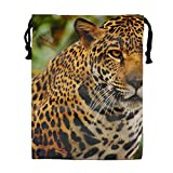 Stylish Leopard Drawstring Pouches Candy Jewelry Party Wedding Favor Present Bags 15.75/11.8''''
