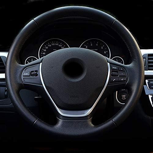 HDCF ABS Volant Chrome Coque Autocollant Cadre d/écoratif Paillettes Coque Autocollant Accessoires pour 1/3/S/érie F30/F20/F10/118I