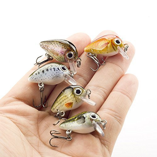 (FOVONON Crankbaits Set Lure Fishing Hard Baits Swimbaits Boat Ocean Topwater Lures Kit Fishing Tackle Minnow Vib Set For Trout Bass Perch Fishing Lures with Box (F103))