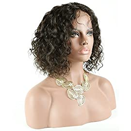 Brazilian Short Bob Human Hair Lace Front Wigs with Baby Hair for Black Women