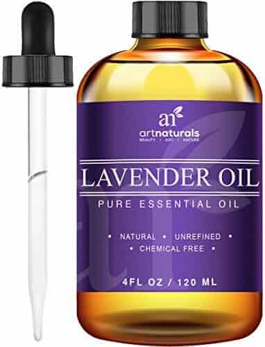 Art Naturals® Lavender Essential Oil 4 oz 3pc Set - Includes Our Aromatherapy Signature Zen Blend 10ml + Travel Size Lavender Oil 10ml - Therapeutic Grade 100% Pure & Natural From Bulgaria (4 oz)