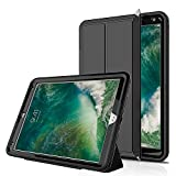 iPad Pro 10.5 Case, SMAPP Three Layer Drop Protection Rugged Protective Heavy Duty iPad Case with Magnetic Smart Auto Wake / Sleep Cover for New Apple iPad Pro 10.5 Inch 2017 (Black/Black)
