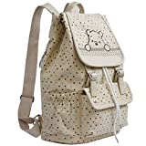 E.a@market Korean Style Girl's Cartoon Canvas Shoulder Bag Students Backpack (B1321A Beige)