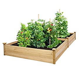 "Greenes Fence Best Value Cedar Raised Garden Bed Planter 48"" W x 96"" L x 10.5"" H 3 Greenes value raised garden bed: Greenes Fence value line of Cedar raised garden beds allows you to create an open-bottom frame to support your garden. Raised garden beds give your plants the room They need to grow in the location of your choice. Our cedar frame is made in the USA of North American Cedar and left untreated, which means it is organic and safe to grow vegetables, herbs, and fruits in. Value Line: with boards that are unsanded and thinner than our original and premium lines, Our value raised garden beds allow you to have a beautiful garden without the premium price. Easy to set up: Greenes Fence uses dovetail interlocking joints, which makes assembly a breeze. Each board slides into the corner posts without tools to form a secure open-bottom garden frame. Every corner post is routed on all four sides for easy assembly and expansion. The decorative Tops can be added to each post using a screwdriver."