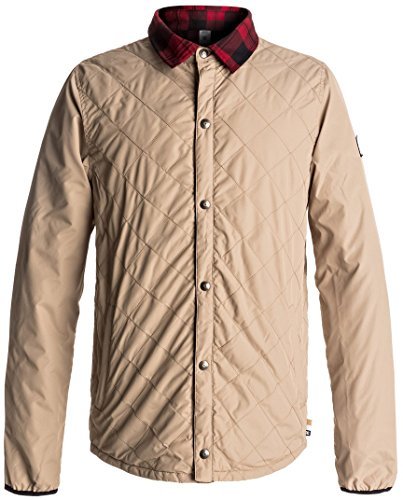 DC Men's Network Water Resistant Reversible Flannel Shirt Jacket, Incense, M