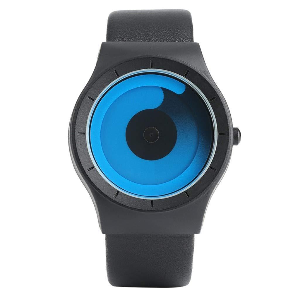 GBVFCDRT Nouveau Concept Montre Style Minimaliste Cool Couleur Spirale Platine Vinyle Roman /Él/égant Montre-Bracelet Geek Ventilateurs Cadeau Homme Femme Horloge