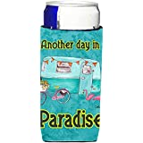 Another Day in Paradise Retro Glamping Trailer Ultra Beverage Insulators for slim cans 8758MUK