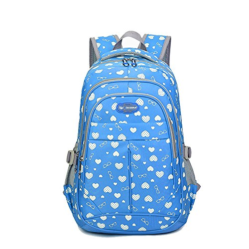 Sweetheart Backpack for Girls Children Kids Schoolbag (Blue)
