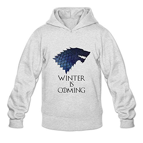 Game Of Thrones Winter Is Coming 100% Cotton Hoodies For Mens Ash M New Hoodies