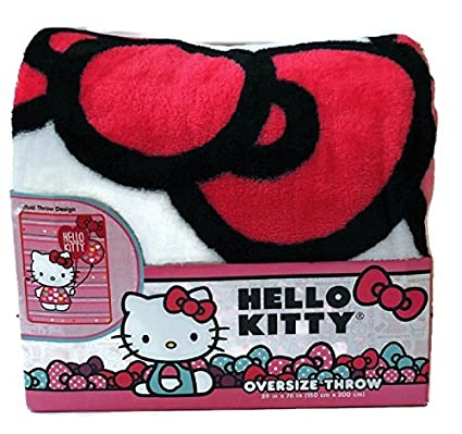 3fa076b4b Hello Kitty Oversize Throw Blanket 59 X 78 by Sanio: Amazon.ca: Home &  Kitchen