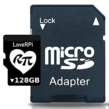 LoveRPi Raspbian UHS-I - Tarjeta microSD con Adaptador SD ...