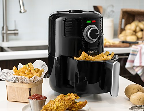 Gourmia Gaf355 Compact Hot Air Fryer Adjustable 30