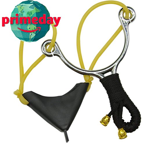 Adjustable Bait (Pyramids Sports Hunting Slingshot Fishing Catapult Throw Bait Device Adjustable Stainless High Velocity Profesional Outdoor Slingshot with Strong Ejection Rubber Bands)