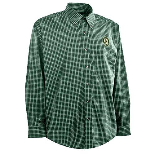 Antigua Men's Oakland Athletics Woven Esteem Button Up Shirt (X-Large)