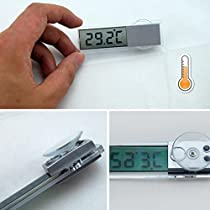 Temperature Measuring Tool LCD Screen Car Kit Electronic Thermometer Sucker Type -Pier 27