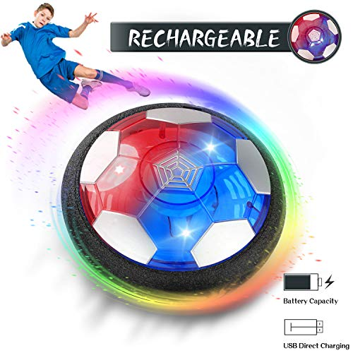 TIKTOK Toys for Boys, Hover Soccer Ball Toys for Kids, Boy, Girls Age 3 4 5 6 7 8 10, Rechargeable Air Hover Ball with LED Light Indoor Playing Football Game Teen Kids Birthday Christmas Gift (Hottest Toys This 2019 Christmas)