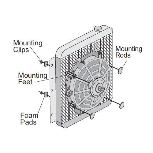 12/V refroidissement de radiateur de voiture 2500/CFM moteur 120/W American Volt ventilateur /électrique Suelto 40,6/cm