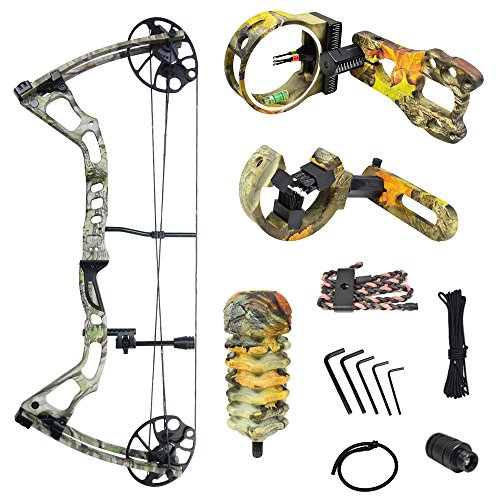 iGlow 15-70 lbs Tree Camouflage Camo Archery Hunting Compoun