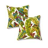 Greendale Home Fashions Outdoor Accent Pillows, Palm Multi, Set of 2