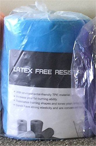 ® Professional Non-Latex Resistance Bands For Upper and Lower Body Exercise Workouts, Physical Therapy, Lower Pilates, and Rehab, 25 Yard Roll Bulk Roll (Blue-Medium) (Thera Band Lower Body Exercise)