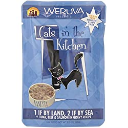 Weruva Cats in the Kitchen Pouch Pet Food, 3 oz, Pack of 8