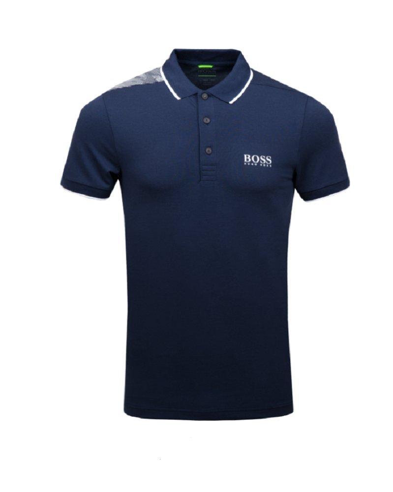 ヒューゴボス プロ 半袖ポロシャツ B0786XBHX8  ネイビー S