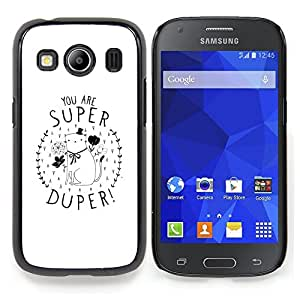 Stuss Case / Funda Carcasa protectora - Usted está Gatito super minimalista del regalo del amor - Samsung Galaxy Ace Style LTE/ G357
