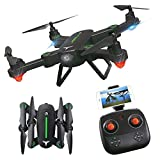 RC Drone,KINGBOT Foldable Flight Path FPV Wifi RC Quadcopter 2.4GHz 6-Axis Gyro Remote Control Drones With 2MP HD Camera Drone (2 Batteries Included)