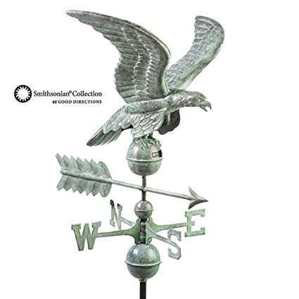 Good Directions Smithsonian Eagle Weathervane, Blue Verde Copper