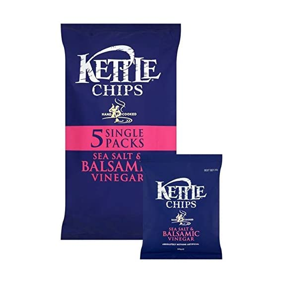 Kettle Chips Salt & Balsamic Vinegar 30g x - 5 per pack 1 Kettle Suitable for Vegetarians; Suitable for Vegans Store in a cool dry place away from bright light.