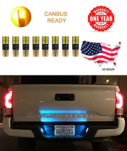 LED Monster Extremely Bright 3030 Chipset LED Bulbs for Car Interior Dome Map Door Courtesy License Plate Lights Compact Wedge T10 168 194 2825 Xenon Amber Pack of 8 (Lamp Phoenix Suns)
