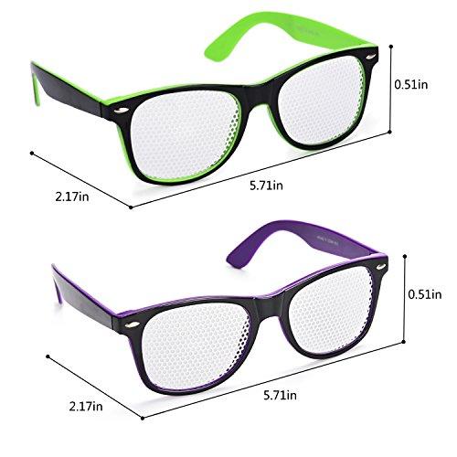 2 Corrección La Protección Cuidado Gafas de Vista Pair Fansport Visual Ocular de Gafas de Multicolor Gafas de A67Cw