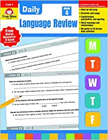evan moor daily language review grade 4 pdf