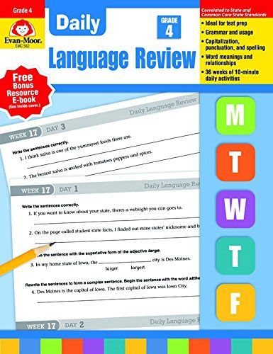 Daily Language Review, Grade 4 by Evan-Moor