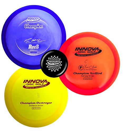 Innova Disc Golf Premium Plastic Upgrade Set - Colors May Vary 170-180g - Improve Your Disc Golf Game with Predictability, Durability, and Performance (Champion Plastic)