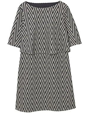 Mango Women's Metallic Thread Dress